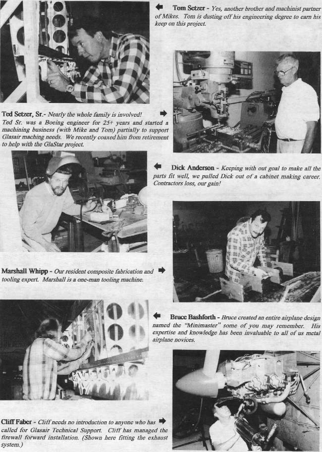 Stoddard-Hamilton employees working on the GlaStar prototype