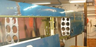 GlaStar wing in its jig