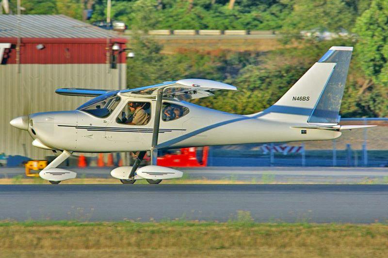 Martin Baumer taking off from Boeing Field