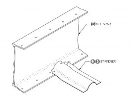 GlaStar wing hat-section stiffener