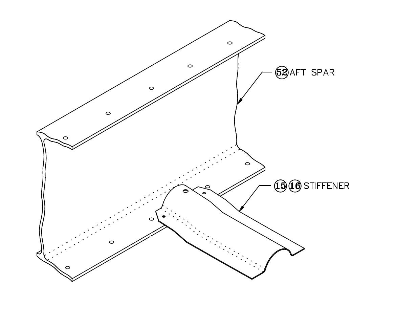 GlaStar wing hat-section stiffener