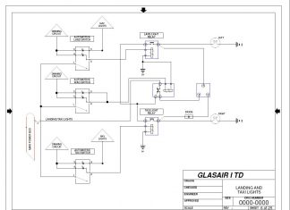 Glasair-I TD landing light schematic. Image: Andy Plunkett