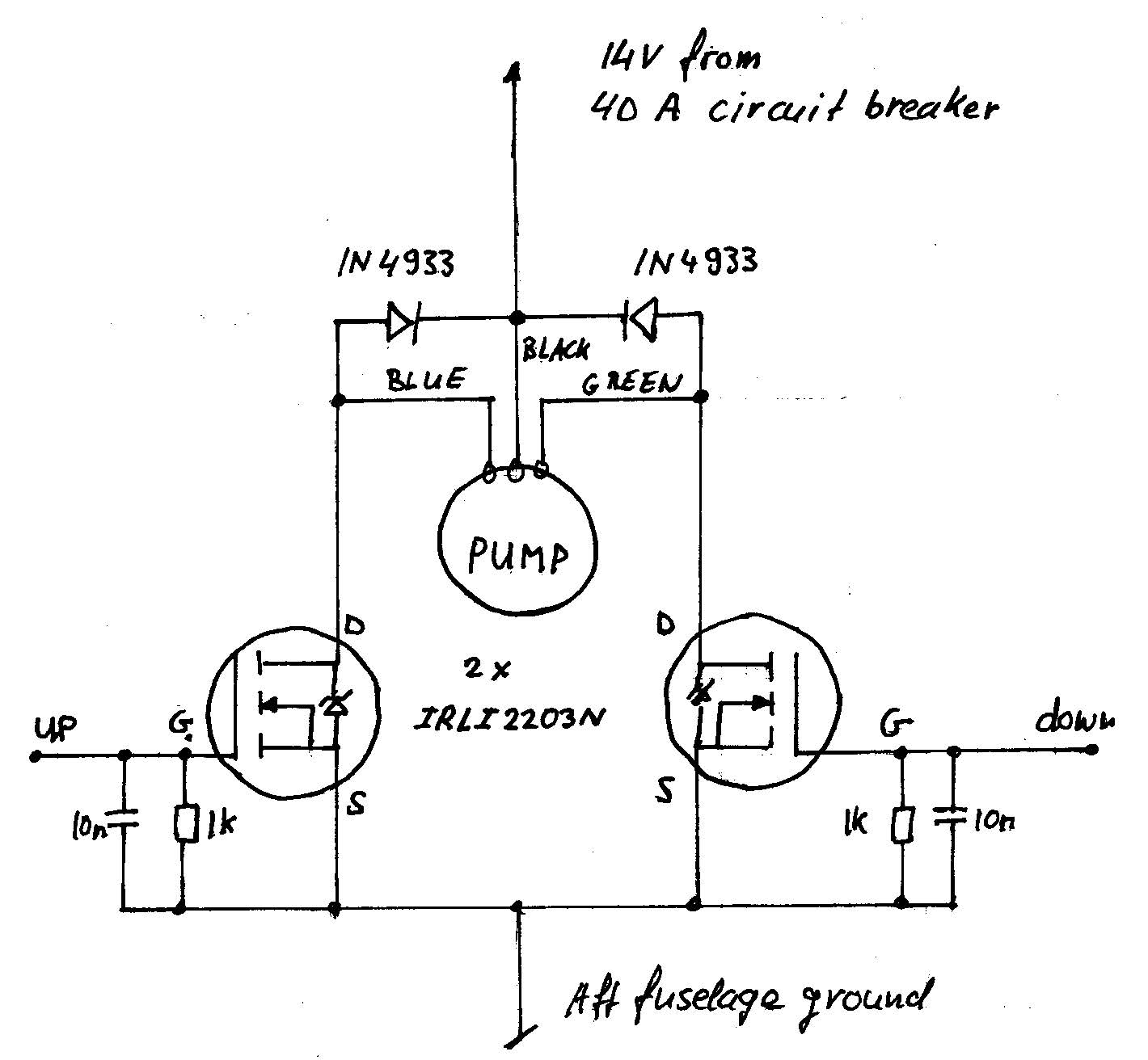 Electronic Landing Gear Pump Drive Circuit