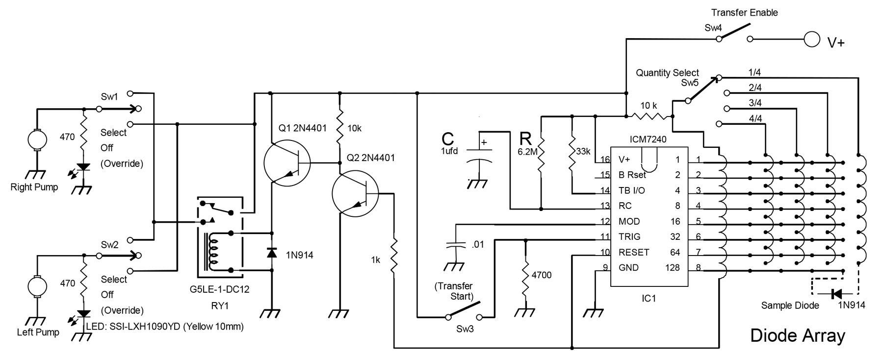 Figure 1. Schematic Diagram, Digital TDR Fuel Transfer Controller