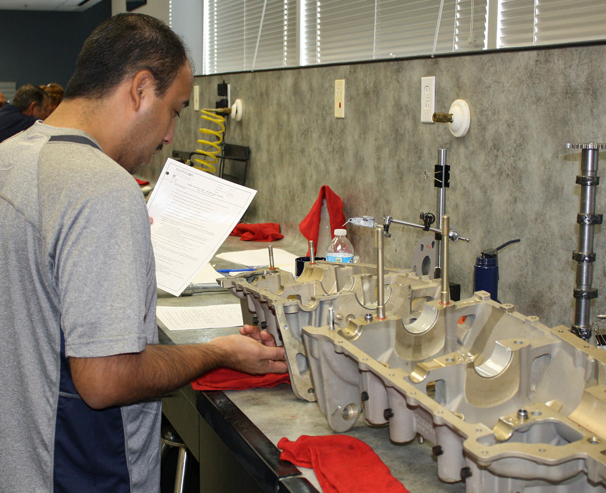 QA technician Juan Ruiz checks the assembly and confirms everything is done to specification.