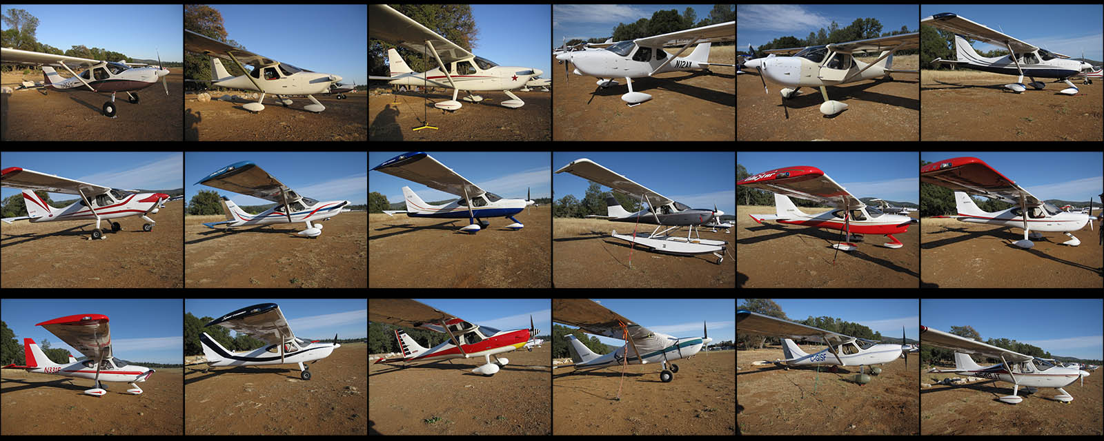 Eighteen aircraft made for record turnout! Photo: Arlo Reeves.