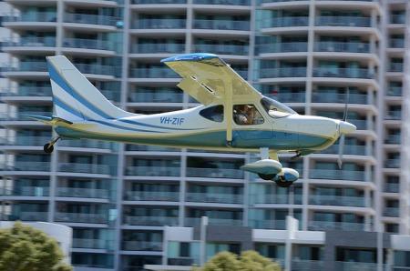 Sportsman VH-ZIF in flight