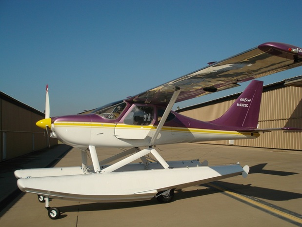 GlaStar on Zenair floats