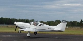 Glasair VH-KJX airborne