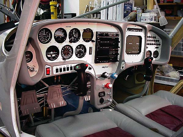 Martin Elshire instrument panel in his GlaStar