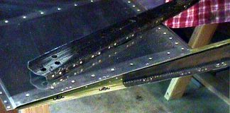 Carbon-fiber elevator rib reinforcement