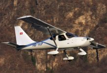 Werner Schneider flying his GlaStar in Switzerland