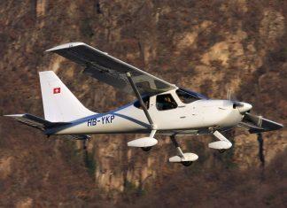 Werner Schneider flying his GlaStar in Switzerland