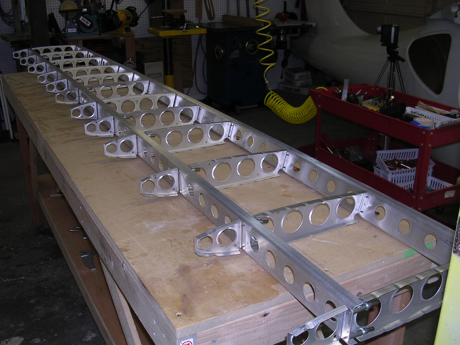 GlaStar horizontal stabilizer spars and ribs