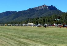 Smiley Creek flightline. Photo: Dave Hulse