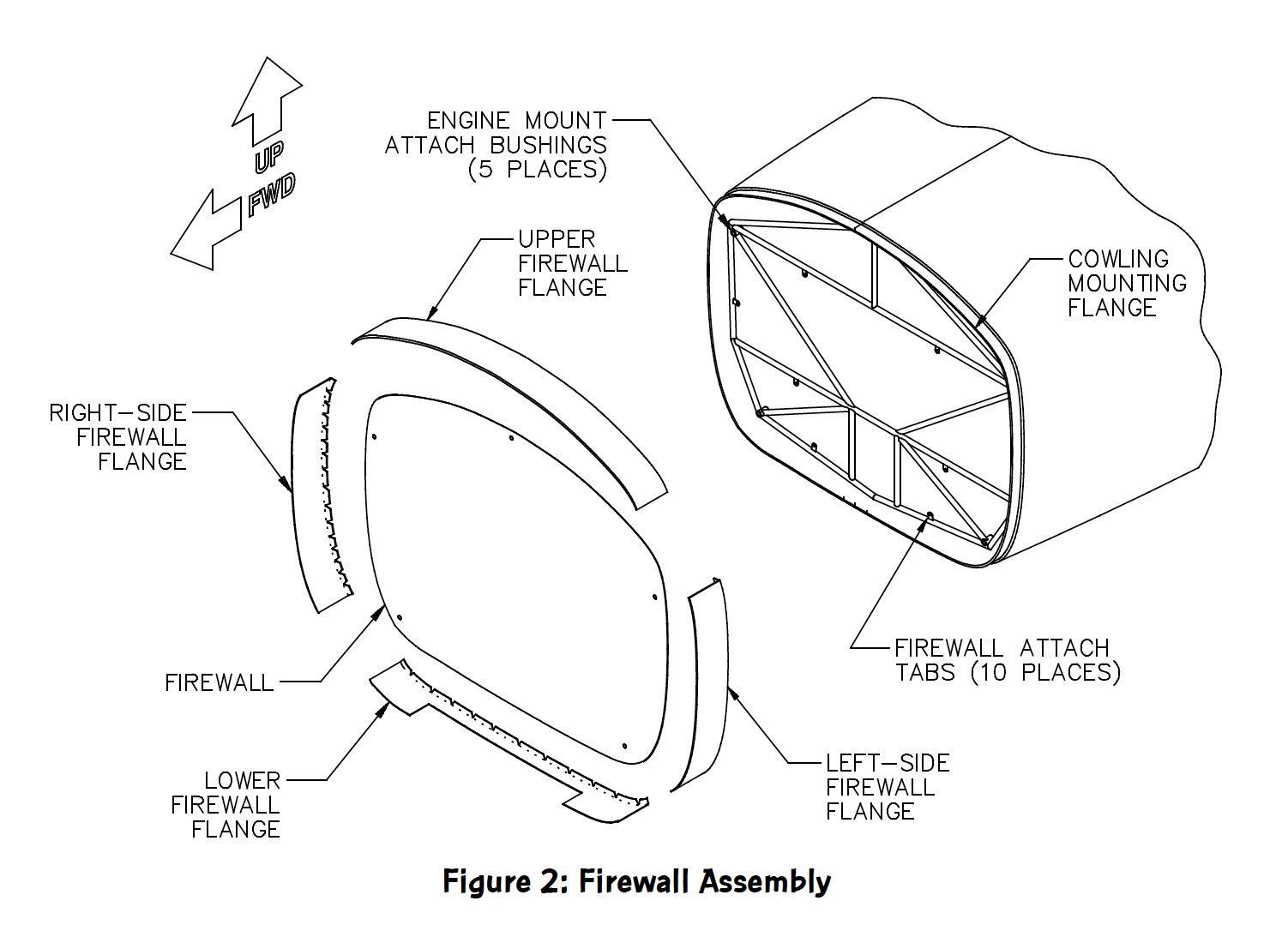 glastar firewall assembly drawing
