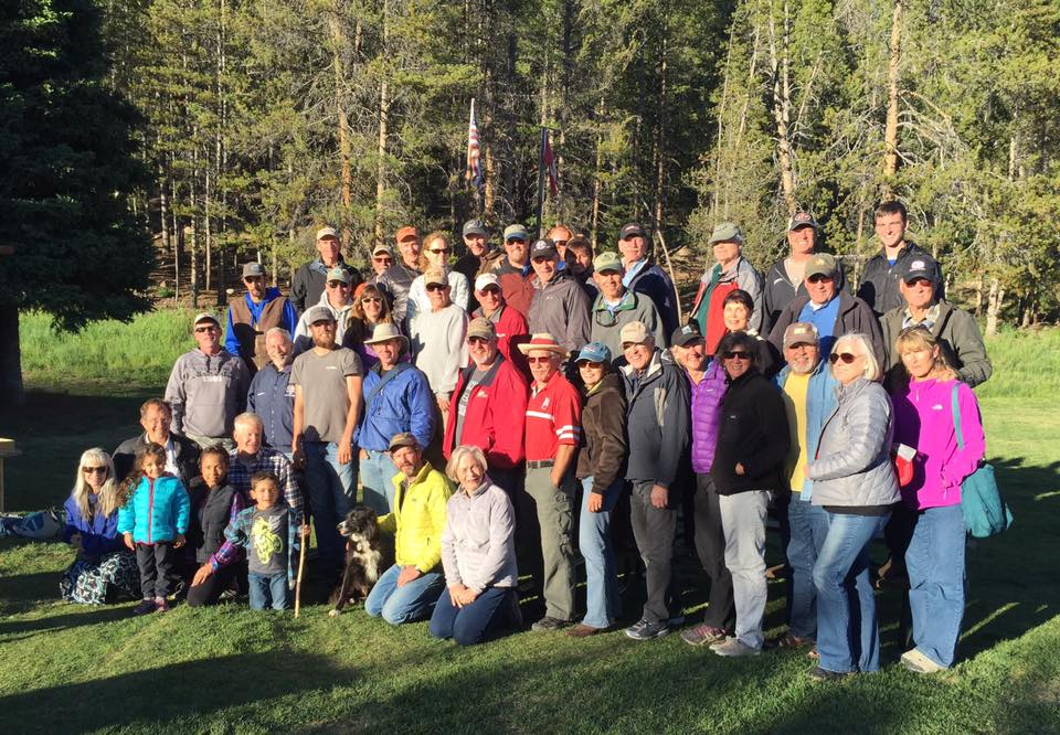 The smiling crowd at this year's Smiley Creek Glastar/Sportsman Fly-In. Join us next year for the 10th Annual! Photo: Ann Walker