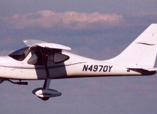 Bill Yamokoskis GlaStar in flight.