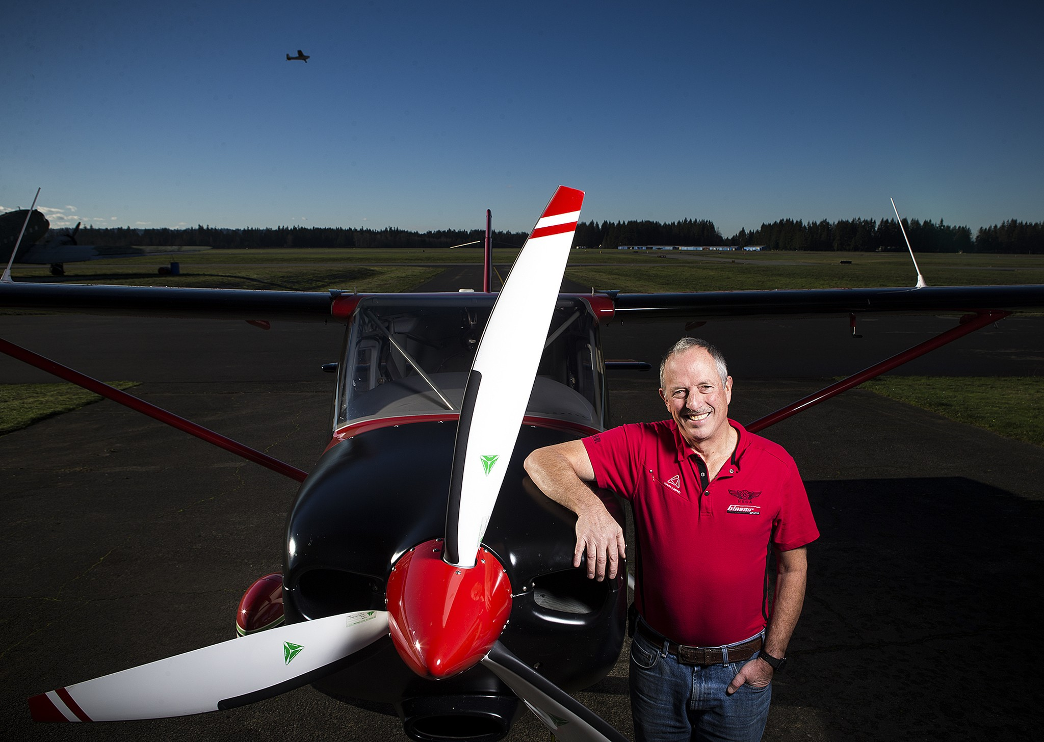 Ted Setzer, of Granite Falls, who recently retired from airplane maker Glasair, is being honored as the Arlington Airport Person of the Year. (Photo: Ian Terry / The Herald)