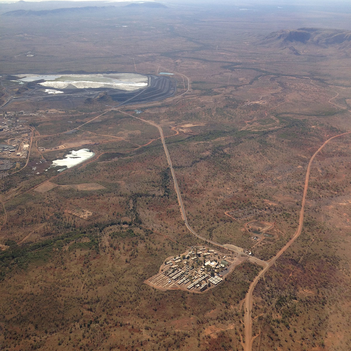 Approaching Lake Argyle Diamond Mine
