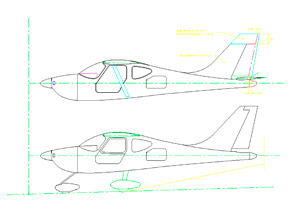 GlaStar New Tail CAD Drawing