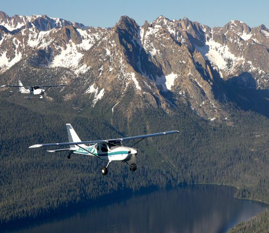 Lakes and Suttons over Idaho. Photo: Arlo Reeves.