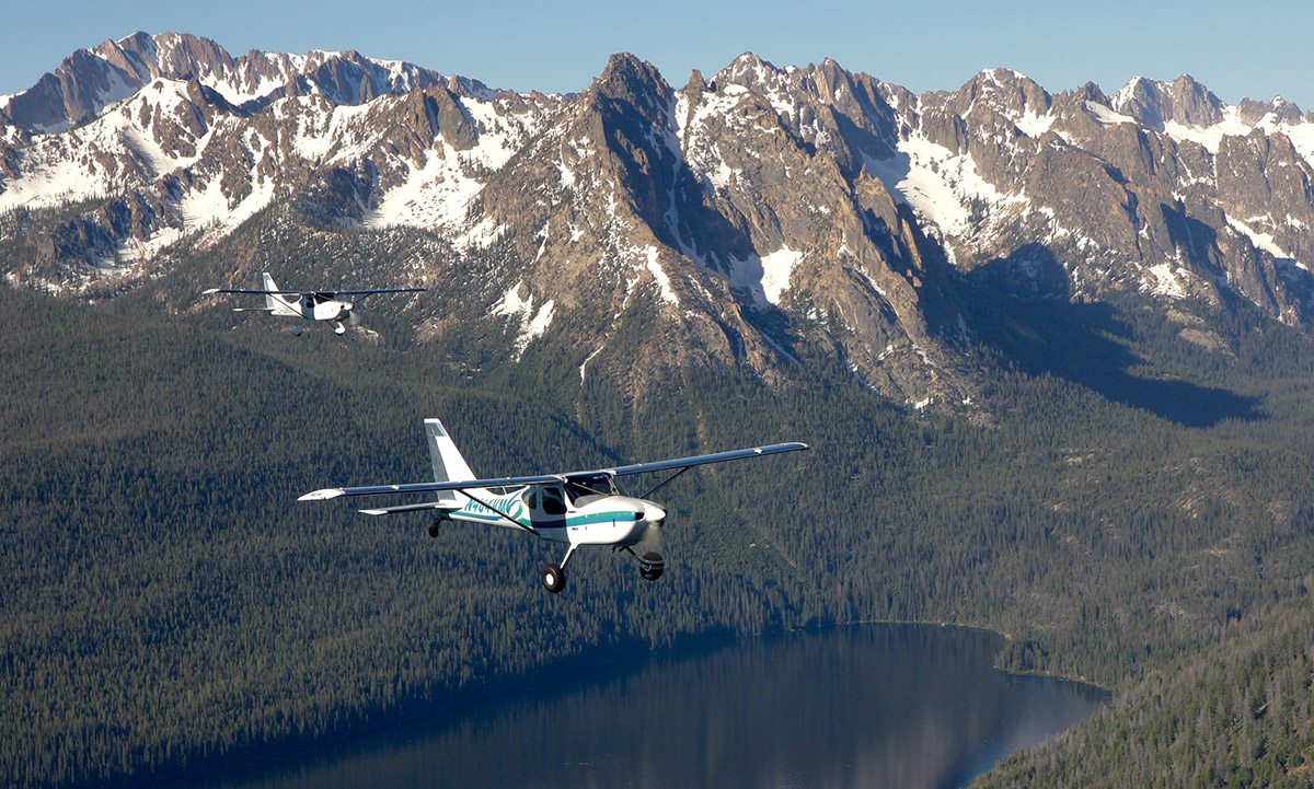 Lakes and Suttons over Redfish lake, Idaho. Photo: Arlo Reeves.