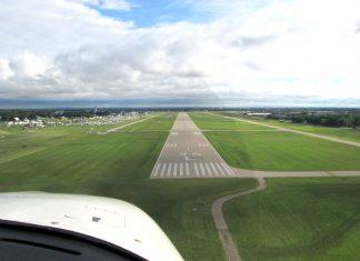 Landing at Oshkosh.