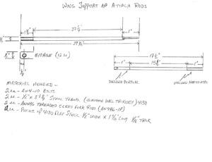 GlaStar and Sportsman wing-fold brace drawing
