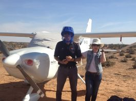 The other useful piece of equipment essential for the Australian Outback – the fly hat!
