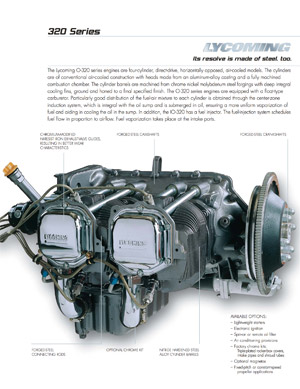 Lycoming O-320 and O-360 Engine Series Specifications