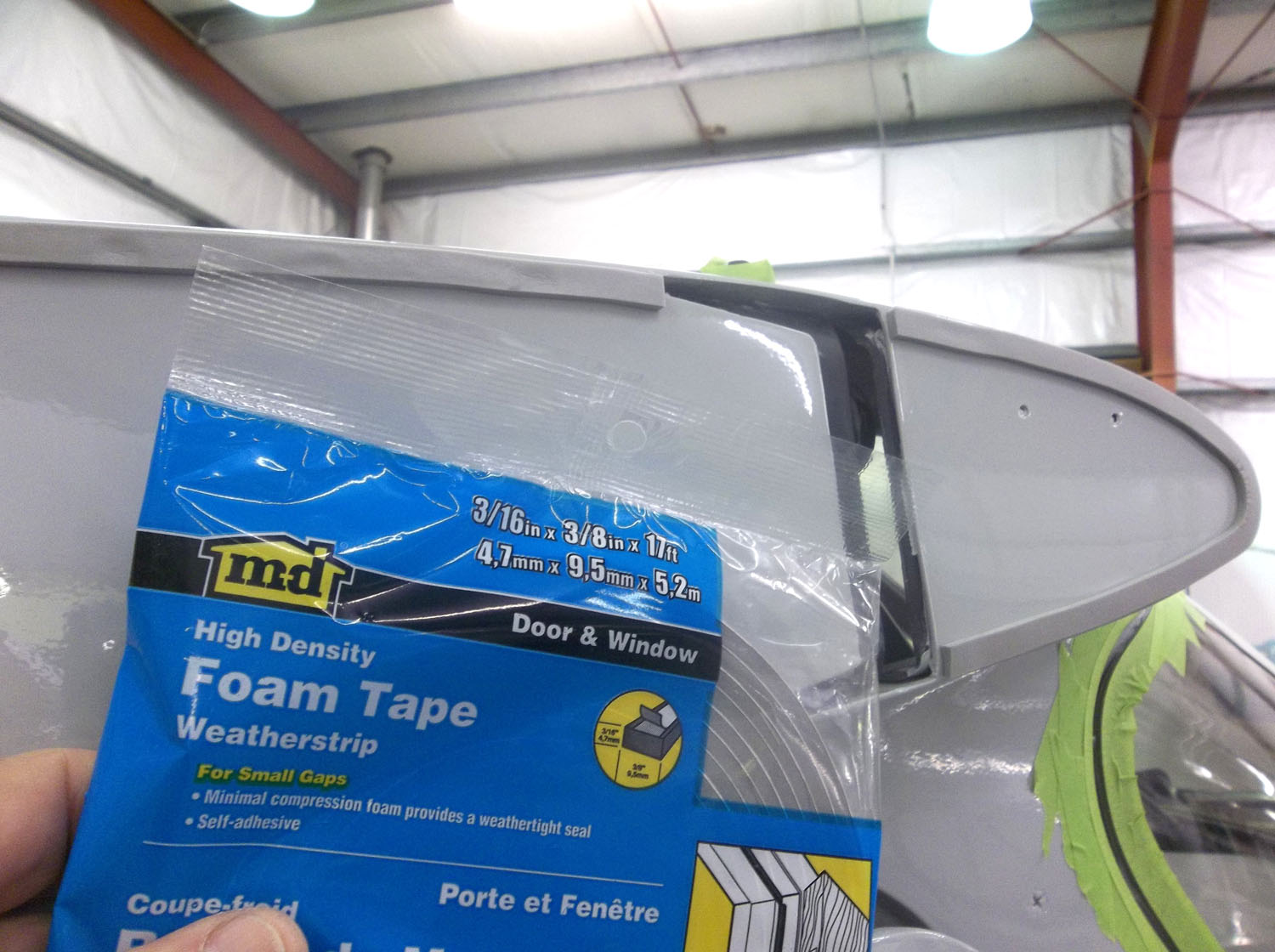High density foam tape.