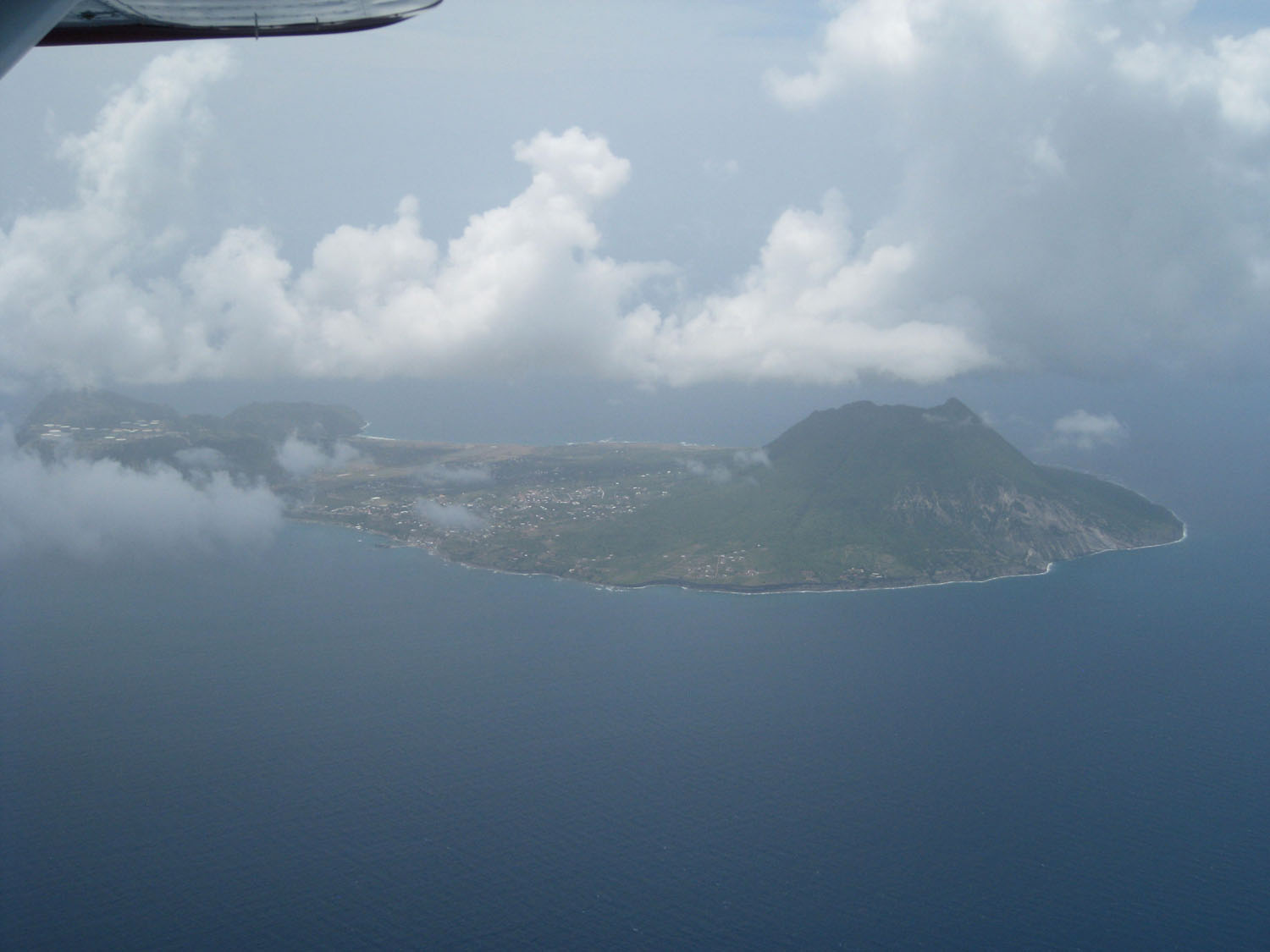 """Statia"" from the air–important oil storage island and great wreck diving"