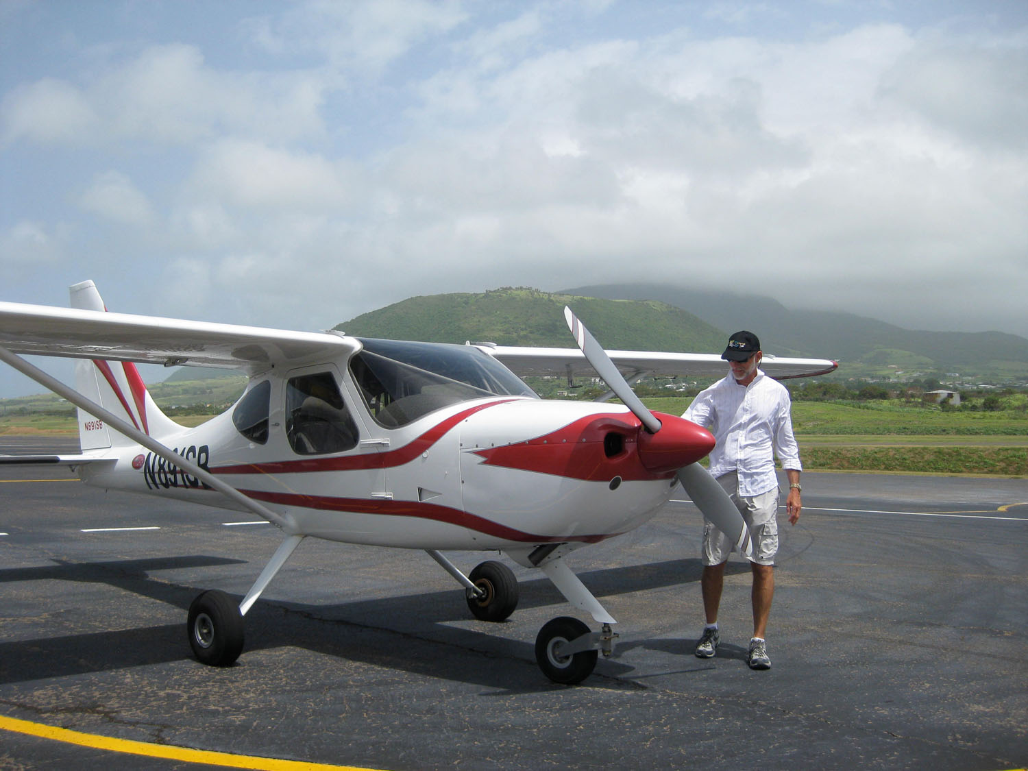 The pre-flight at St. Kitts