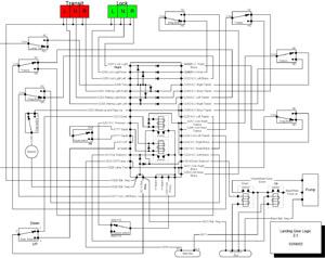 Glasair Landing Gear Logic Schematic