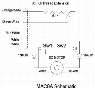 Here's a simple electronic schematic that shows how the MAC8A works.