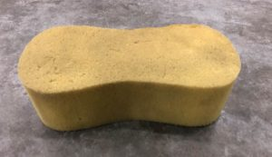 car washing sponge carried in the floats