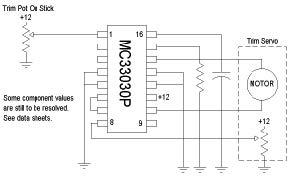 Basic schematic using the MC33030.