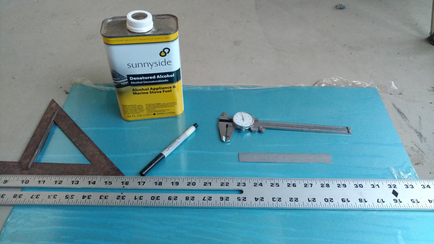 Tools and Supplies Used in the Layout Process