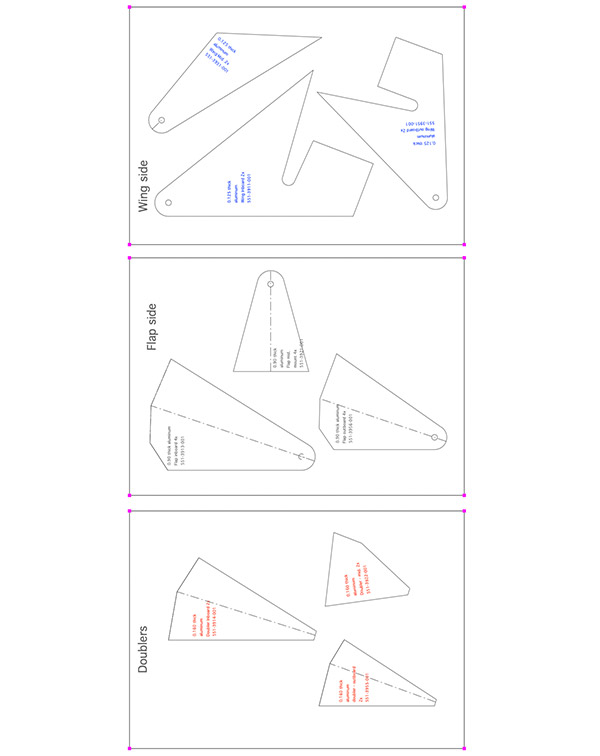 Slotted Flap Hinges Drawing