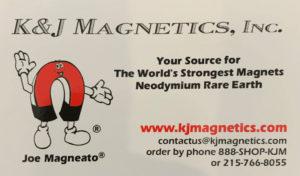 K&J Magnetics business card
