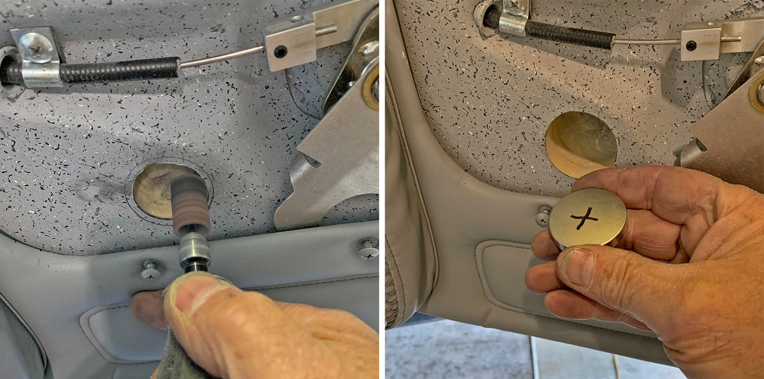 Hole for magnet in the door