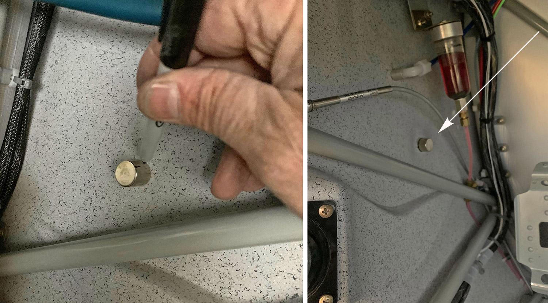 Interior side of magnetic holder
