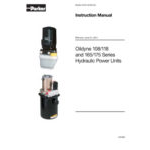 Oildyne 108/118 and 165/175 Series Hydraulic Power Units Instruction Manual