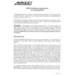 Aerocet 2200 Straight Floats Installation Manual for GlaStar