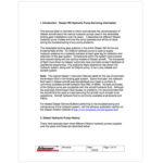 Glasair RG Hydraulic Pump Servicing Information Service Letter