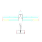 GlaStar Top View CAD Drawing (Old horizontal Stabilizer)