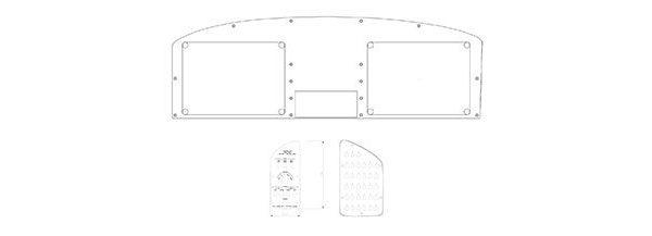 Instrument Panel CAD Drawings - Sportsman
