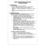 Winter Ops Checklist - Glasair