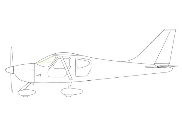Sportsman Side-View Drawing
